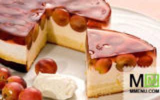 Торт с виноградом  – рецепты с фото