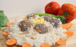 Мясные шарики из риса и репы