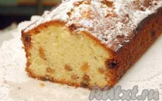 Вкусный кекс с изюмом: рецепт с фото