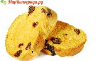 Сухари с изюмом – калорийность, полезные свойства