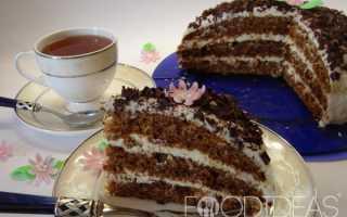 Торт с изюмом – рецепт приготовления с фото