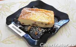 Творожная запеканка с изюмом в духовке рецепт с фото