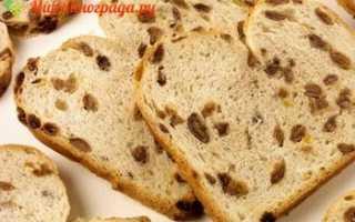 Хлеб с изюмом в хлебопечке рецепт с фото
