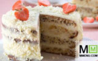 Торт с изюмом и орехами – рецепт с фото