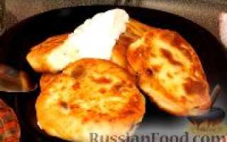 Сырники с изюмом, рецепт с фото